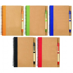 Eco Spiral Notebook with Pen