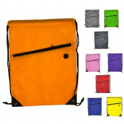 Sport backpack with front zipper